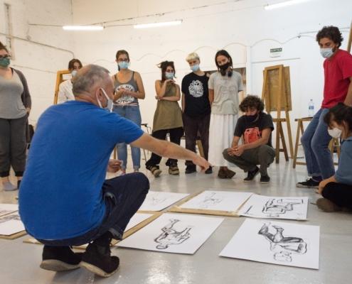 Life drawing art school barcelona